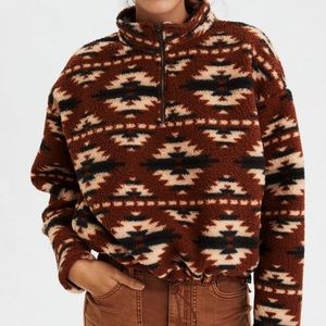 Aztec American Eagle Sherpa with Drawstring